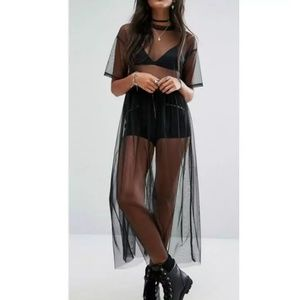New with tags chic black sheer cover